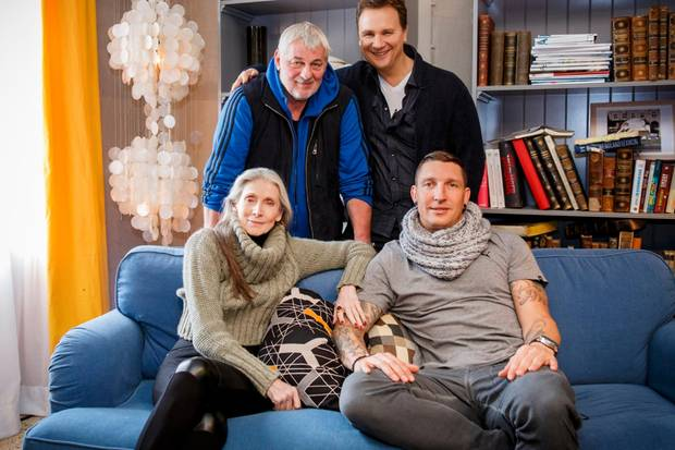 Model Eveline Hall, Schaupsieler Heinz Hoenig, Guido Maria Kretschmer und Handballtrainer Stefan Kretzschmar