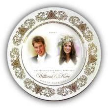 """Der """"William + Kate""""-Vorabhochzeitsteller eines englischen Kaufhauses"""