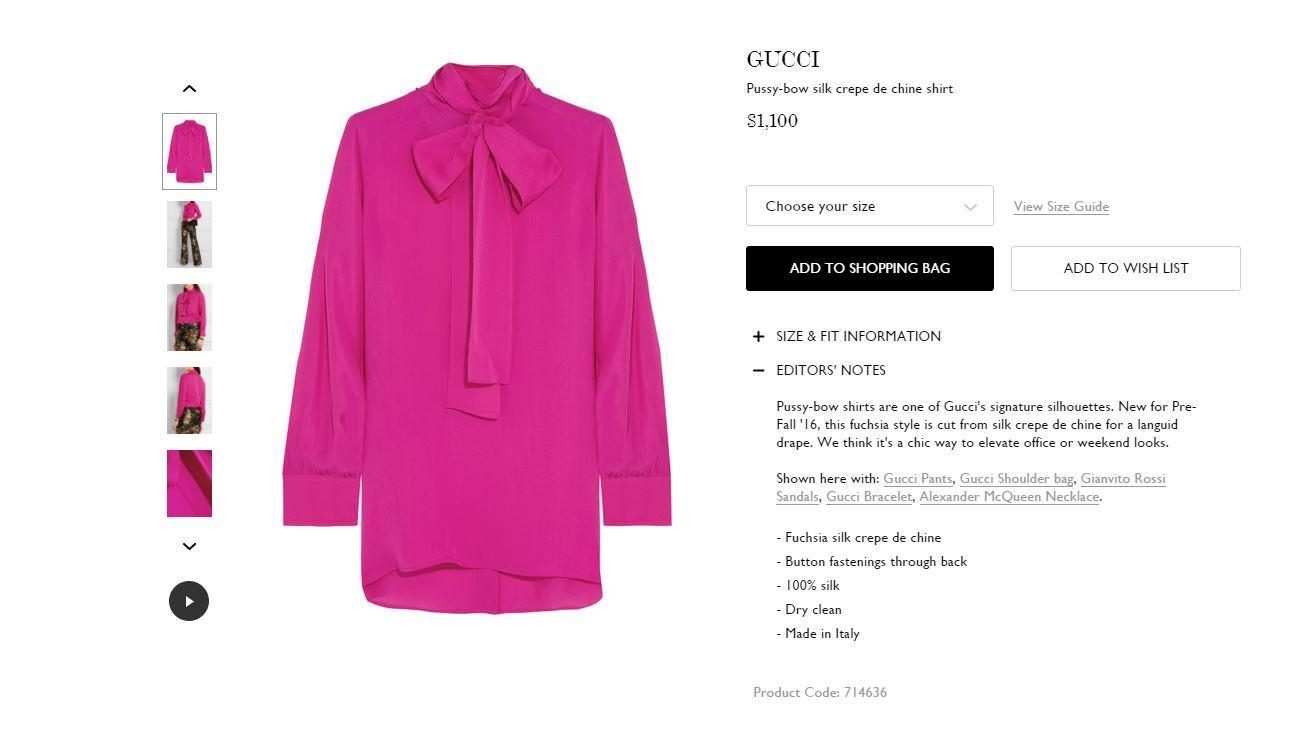 Die Gucci-Bluse im Net-a-porter-Shop