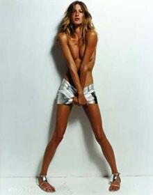 Supermodel Gisele Bündchen, fotografiert von Mario Testino