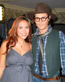 Johnny Depp und CNN-Moderatorin Myleene Klass