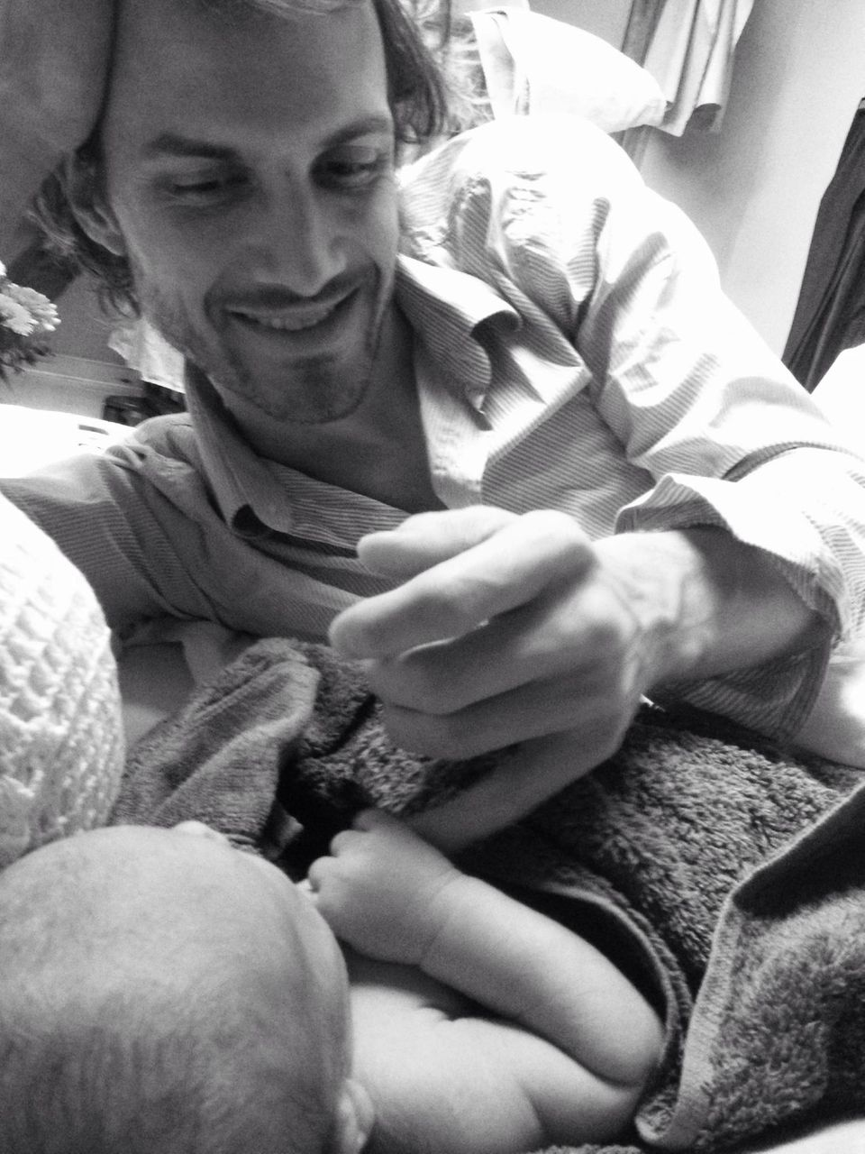 Thaddäus Meilinger freut sich über die Geburt seines Sohnes.