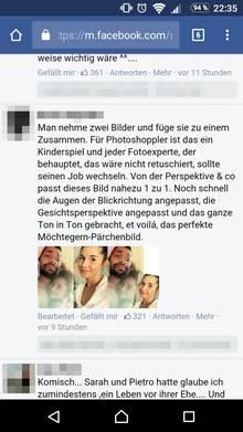Sarah + Pietro Lombardi: Nur ein Photoshop-Fake?