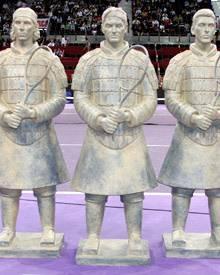 Die ersten drei Statuen der Weltklasse-Spieler