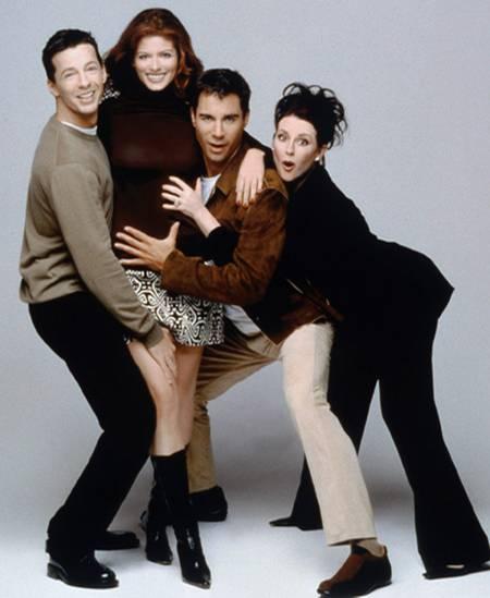 """In """"Will & Grace"""" halten die beiden Hauptdarsteller zusammen und gemeinsam Händchen, wenn Schwierigkeiten drohen"""