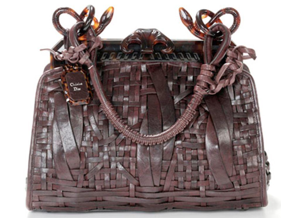 """Geflochtene """"Samourai""""-Bagmit schmucker Schlange von Dior, um 2700€"""
