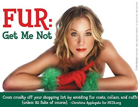 Christina Applegate für die neue PETA-Kampagne