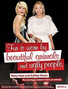 Peta-Kampagne gegen die Olsen-Zwillinge