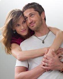 Butler mit seiner Filmpartnerin Hilary Swank