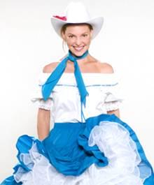 """Katherine Heigl in einem ihrer Kostüme aus """"27 Dresses"""""""