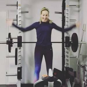 Charlotte Würdig: Training mit Baby
