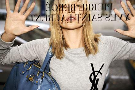 Kate Moss wirbt für Yves Saint Laurent