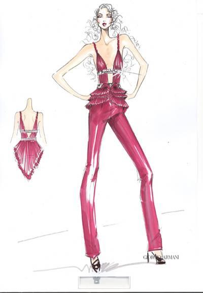 Look 2 von Giorgio Armani für Alicia Keys