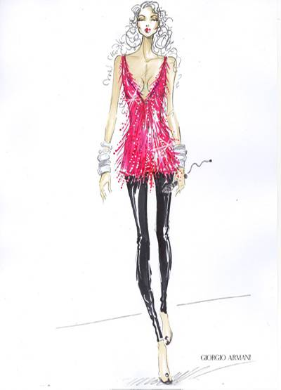 Look 1 von Giorgio Armani für Alicia Keys