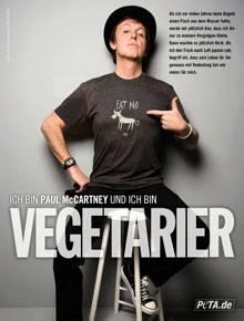 """So wirbt Paul MccCartney in seiner neuen Anzeige für """"Peta"""""""