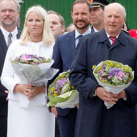 Prinzessin Mette-Marit, Prinz Haakon, König Harald