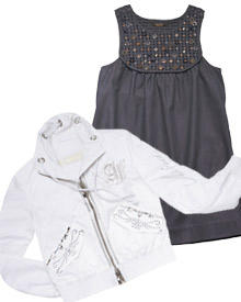 Sportswear und Glamour? Dank Swarovski eine wunderschöne Kombination. Labels wie 7 for all Mankind (Kleid) oder Airfield (Jacke)