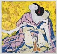 Freundliche Farben und recht offenherzig: Lucy Liu lebt sich in ihren Gemälden völlig aus