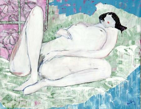 Einige Bilder lassen in Stil, Motiv und Technik an andere große Künstler wie Gustav Klimt oder Pablo Picasso erinnern