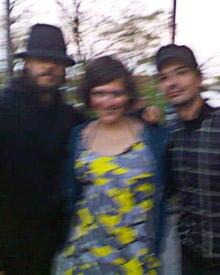 Das große Zittern: Auf diesem Foto wären (von links nach rechts) zu sehen: Jared Leto, Carla Quick und Tomo Milisevic