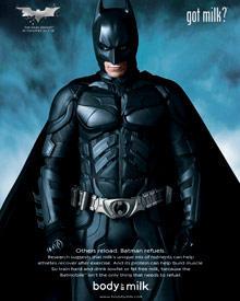 Furchteinflößend, überzeugend: Batman mit Milchbart