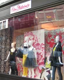 Das Schaufenster der Designerin Kira Plastinina