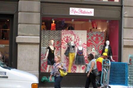 Blick auf den New Yorker Shop