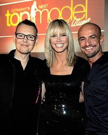 Die Jury der dritten Staffel: Rolf Scheider, Heidi Klum und Peyman Amin (von links)