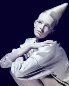Eine Haarkunst-Kreation von Frisuren-Meister Tom Kroboth