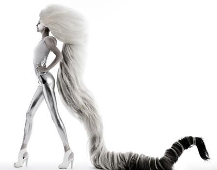 """Mit diesem Kunstwerk gewann Tom Kroboth beim German Hairdressing Award 2007 in der Kategorie """"Avantgarde"""""""