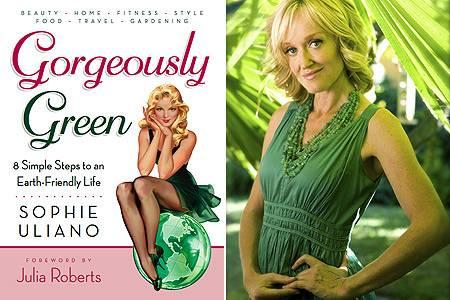 """Autorin Sophie Uliano zeigte Julia Roberts die Tricks, die auch in ihrem Buch """"Gorgeously Green"""" nachzulesen sind"""
