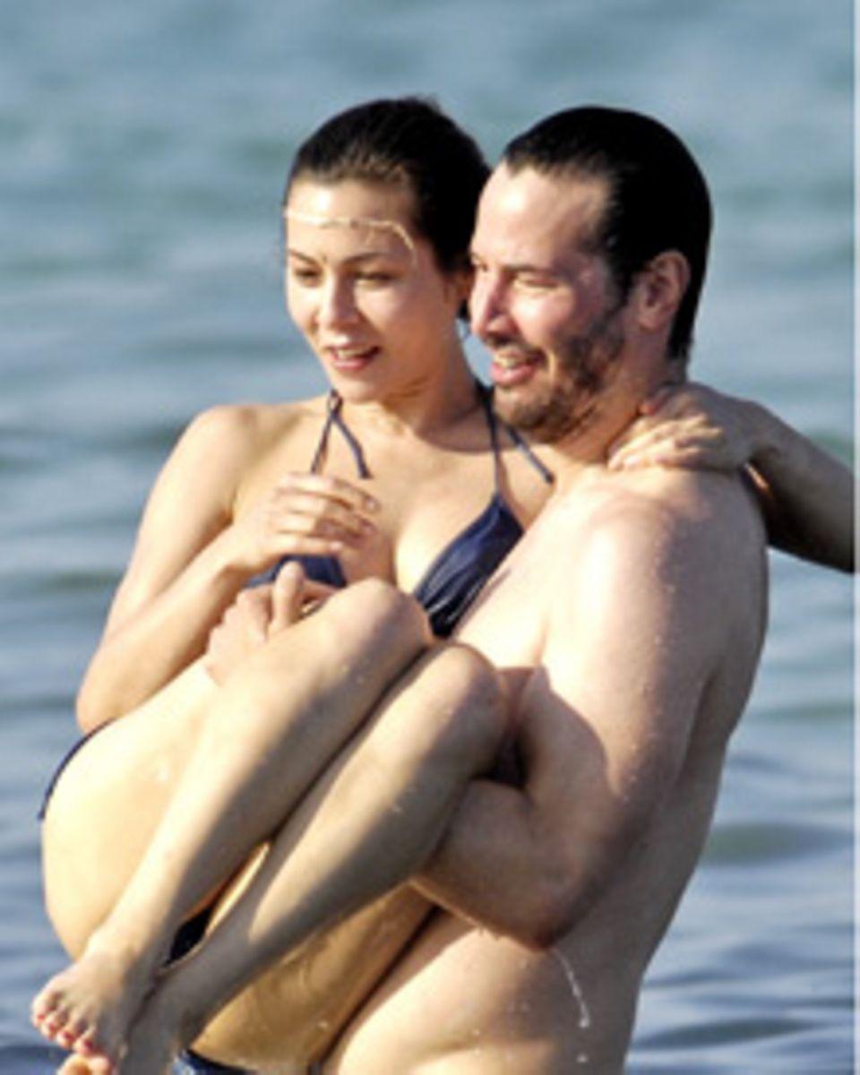 Zwei, die zusammen offensichtlich viel Spaß haben: Keanu Reeves und China Chow
