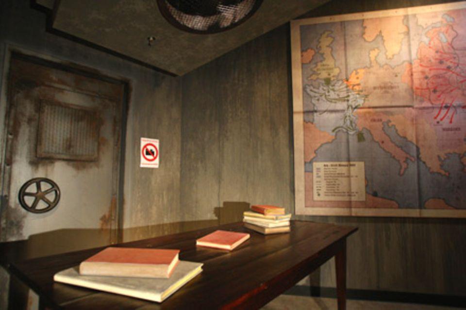 Besucher können derzeit nur den leeren Bunker sehen