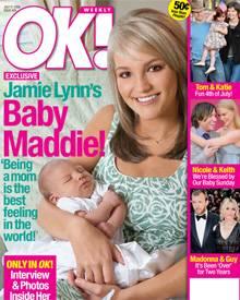 Glückliche Mama: Jamie Lynn Spears strahlt vom aktuellen Cover des amerikanischen OK! Magazine