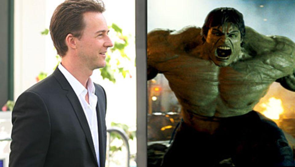 Ob der computeranimierte Hulk dem Darsteller Edward Norton noch ähnlich sieht, kann man ab 10. Juli im Kino überprüfen