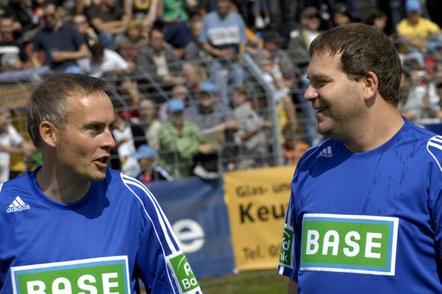 Teamkameraden Peter Lohmeyer und Elton