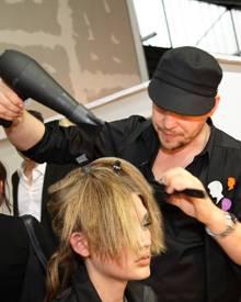 Bei der Fashionweek in Berlin stylte Armin Morbach erneut die Models für die Michalsky-Show
