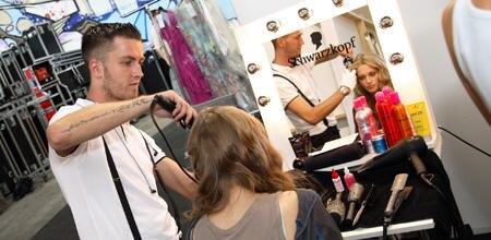 Während der Fashionweek in Berlin waren Armin Morbach und sein Stylisten-Team nonstop im Einsatz