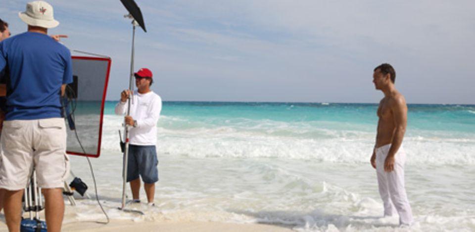 Unter der heißen Sonne der Bahamas fand das Shooting zur Dior-Kampagne statt