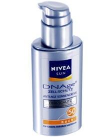 """Sonnencreme Nivea Sun """"DNAge"""" mit Schutzfaktor 30 oder 50 für Gesicht, Dekollete und Hände (50 ml, ca. 14 Euro)"""