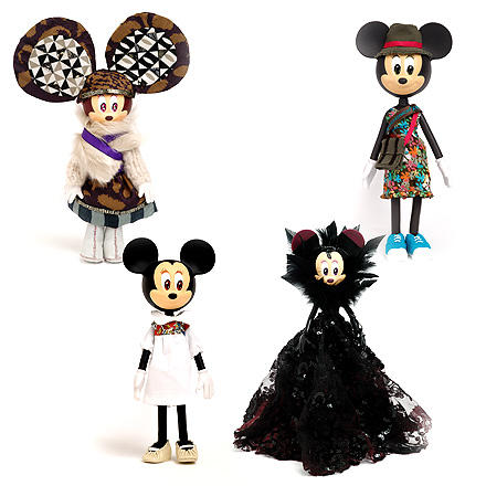 Minnie Mouse in Antik Batik, Bensimon, Cacharel und Eymeric François