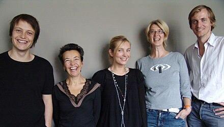 Die Spielfime-Jury, darunter die prominenten Schauspieler August Diehl (ganz links) und Nadja Uhl (Mitte)