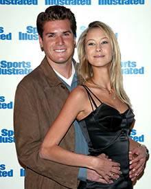 """Mit dem Tennisspieler Tommy Haas war sie von 1999 bis 2003 liiert. Hier ist das Paar bei einer Veranstaltung von """"Sports Illustr"""