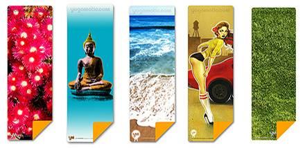 Die Designs sind vielfältig. Hier findet jeder was für seine persönliche Yogamatte.