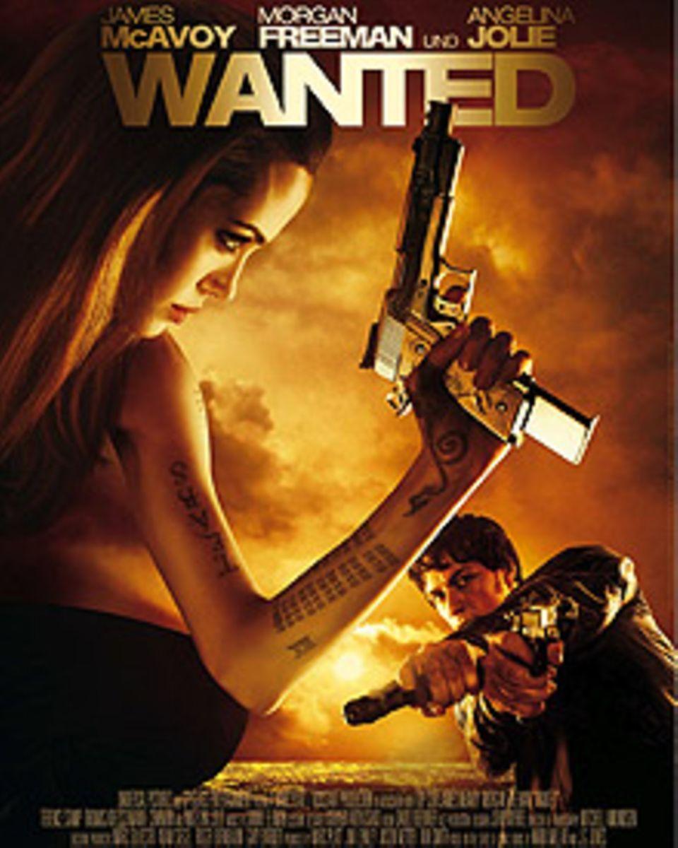 Das umstrittene Filmplakat mit Angelina Jolie und James McAvoy