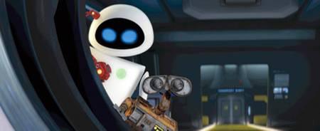 Wall.Es Freundin Eve ist ein ganz modernes Robot-Exemplar