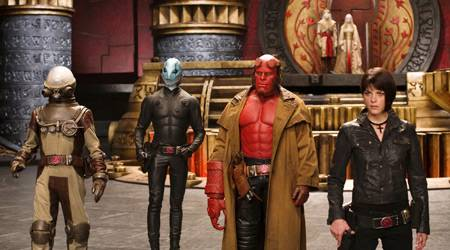 Vier gegen die Unterwelt: Johann, Abe, Hellboy und Liz