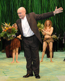 Phil Collins kam bei der Premiere am 19. Oktober in Hamburg vorbei
