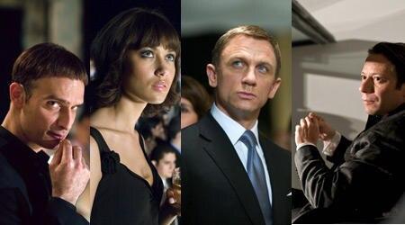 Vier Hauptdarsteller: Anatole Taubmann, Olga Kurylenko, Daniel Craig, Mathieu Amalric