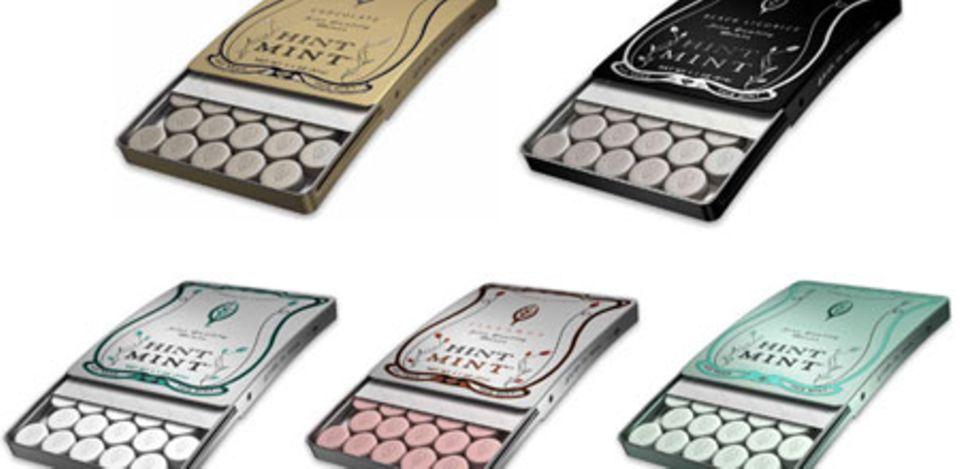 """Die """"Hint Mints"""" gibt es in verschiedenen Geschmacksrichtungen und hollywoodtauglichem Design"""